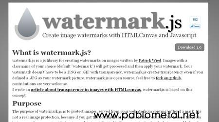 watermark Agrega Marcas de agua a tus imagenes con javascript y WaterMark