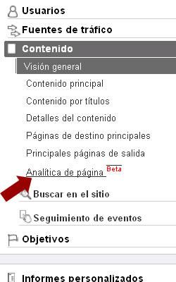 analytics inpage 2 Donde y Cúantas veces la gente hace click dentro de tu web con In page de Google Analytics