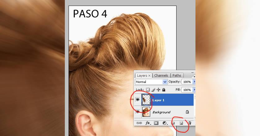como cambiar el cabello en photoshop